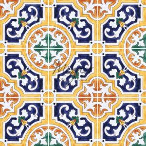 HP-500 Hand Painted Tile by Mizner Tile Studio - multiple tile view