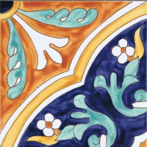 Hand Painted Tile HP-501 Mizner Tile Studio