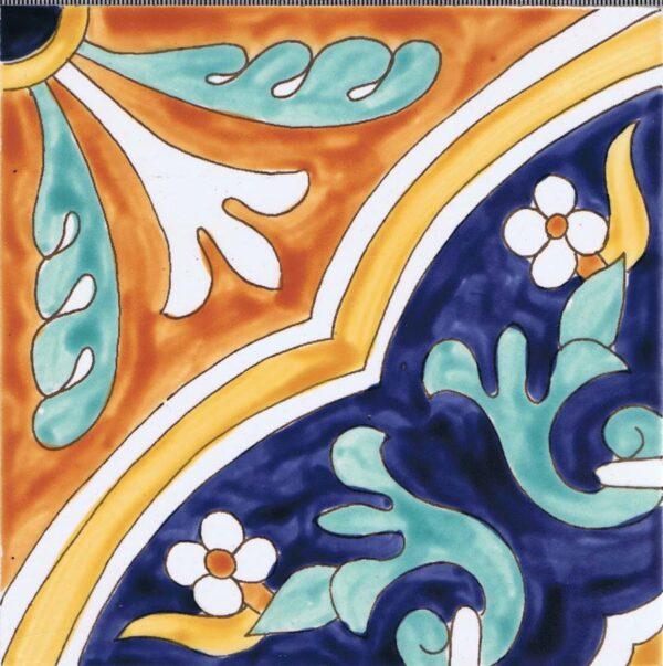 Hand Painted Tile HP-501 Mizner Tile Studio