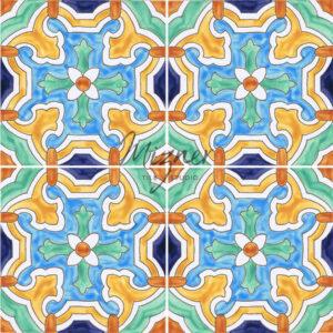 Hand Painted Tile from Mizer Tile Studio - HP-503 multiple tiles