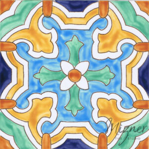 Hand Painted Tile from Mizer Tile Studio - HP-503 single tile
