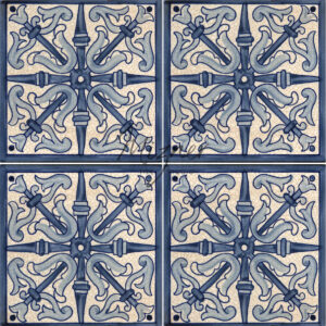 Hand Painted Tile HP-504 from Mizner Tile Studio - multiple tiles pattern