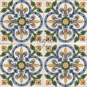 Hand Painted Tile - HP-505 MIzner Tile Studio