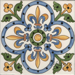 Hand Painted Tile - HP-505 MIzner Tile Studio - Single Tile