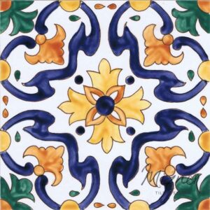 Hand Painted Tile 1-Single Tile - Portuguese Style HP-507 from Mizner Tile Studio