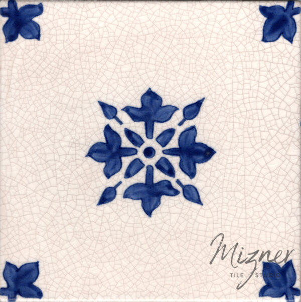 Hand painted tile — Single Tile from Mizner Tile Studio