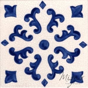 Hand Painted Tile— Single Tile from Mizner Tile Studio