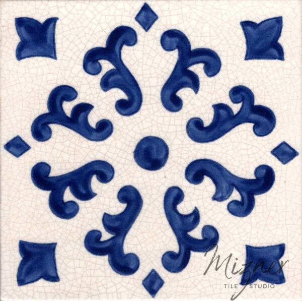 Hand Painted Tile— Single Tile from Mizner Tile Studio