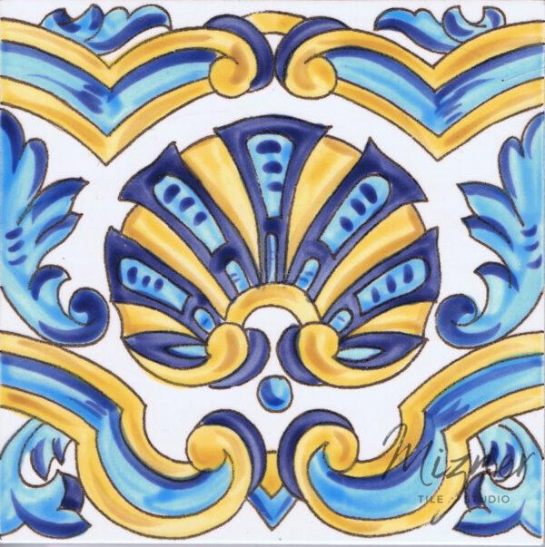 Hand Painted Tile - Single Tile - Mizner Tile Studio