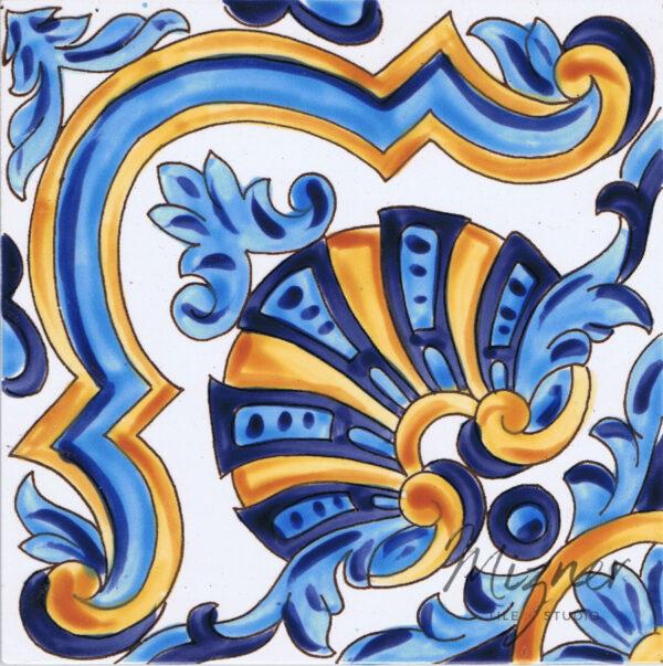 Hand Painted Tile - HP-511 Single Tile - Mizner Tile Studio