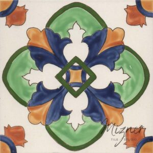 Hand Painted Tile single tile - Mizner Tile Studio