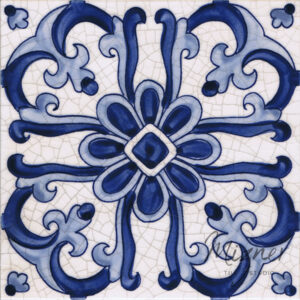 Hand Painted Tile 1-Single Tile - Portuguese Style HP-515 from Mizner Tile Studio