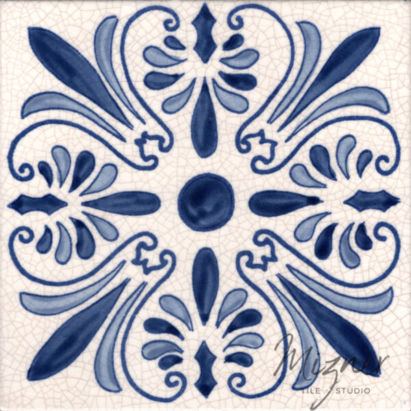 Hand Painted Tile Single Tile - Style HP-518 from Mizner Tile Studio