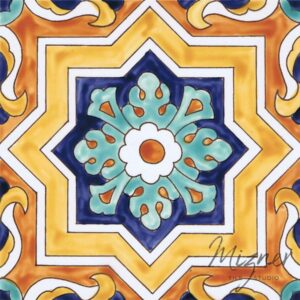 Hand Painted Tile single tile - Style HP-520 from Mizner Tile Studio