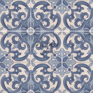 Hand Painted Tile Multiple Tile - Portuguese Style HP-521 from Mizner Tile Studio