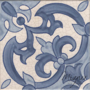 Hand Painted Tile 1-Single Tile - Portuguese Style HP-521 from Mizner Tile Studio