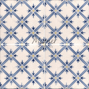 Hand Painted Tile 4-Tile Pattern - Style HP-524 from Mizner Tile Studio