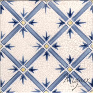 Hand Painted Tile 1-Single Tile - Style HP-524 from Mizner Tile Studio