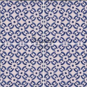 Hand Painted Tile 4-Tile Pattern - Style HP-530 from Mizner Tile Studio