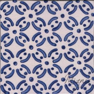 Hand Painted Tile 1-Single Tile - Style HP-530 from Mizner Tile Studio