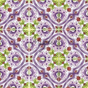 Hand Painted Tile 9-Tile Pattern - Style HP-531B from Mizner Tile Studio