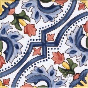 Hand Painted Tile 1-Single Tile - Style HP-531 from Mizner Tile Studio