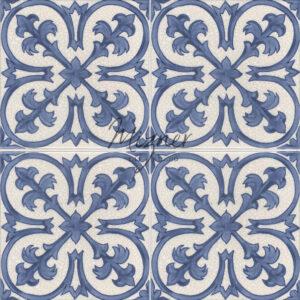 Hand Painted Tile 4-Tile Pattern - Style HP-532 from Mizner Tile Studio