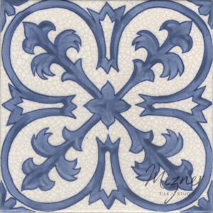 Hand Painted Tile 1-Single Tile - Style HP-532 from Mizner Tile Studio