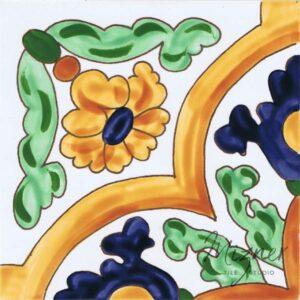 Hand Painted Tile 1-Single Tile - Style HP-533 from Mizner Tile Studio