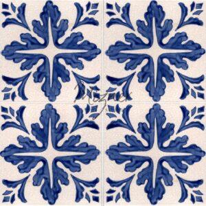 Hand Painted Tile 4-Tile Pattern - Style HP-534 from Mizner Tile Studio