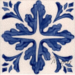 Hand Painted Tile 1-Single Tile - Style HP-534 from Mizner Tile Studio