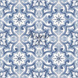 Hand Painted Tile 4-Tile Pattern - Portuguese Style HP-535 from Mizner Tile Studio
