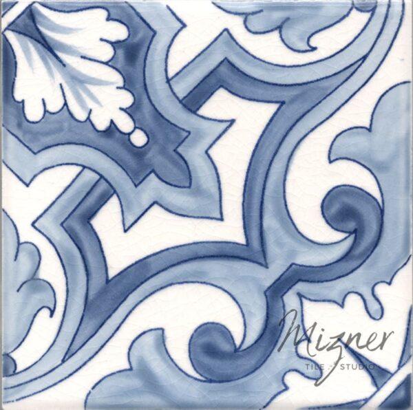 Hand Painted Tile 1-Single Tile - Portuguese Style HP-535 from Mizner Tile Studio