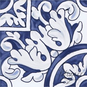 Hand Painted Tile 1-Single Tile - Portuguese Style HP-536 from Mizner Tile Studio