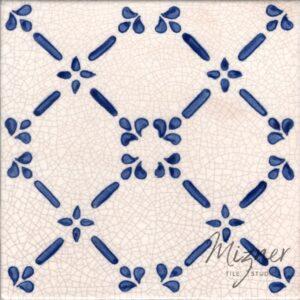 Hand Painted Tile 1-Single Tile - Style HP-537 from Mizner Tile Studio