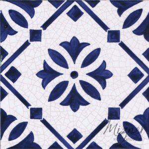 Hand Painted Tile 1-Single Tile - Style HP-539 from Mizner Tile Studio