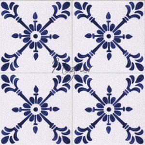 Hand Painted Tile 4-Tile Pattern - Style HP-541 from Mizner Tile Studio