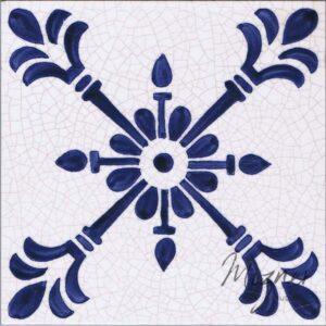 Hand Painted Tile 1-Single Tile - Style HP-541 from Mizner Tile Studio