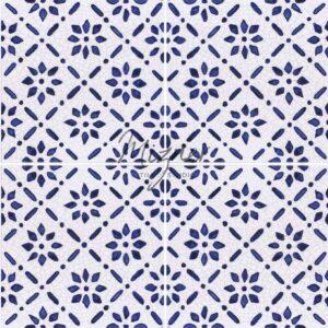 Hand Painted Tile 4-Tile Pattern - Style HP-542 from Mizner Tile Studio