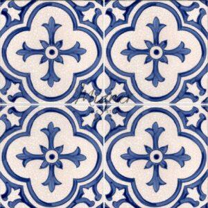 Hand Painted Tile 4-Tile Pattern - Style HP-543 from Mizner Tile Studio