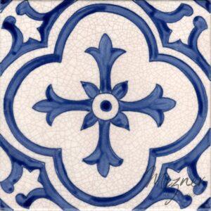 Hand Painted Tile 1-Single Tile - Style HP-543 from Mizner Tile Studio