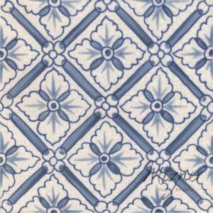 Hand Painted Tile 1-Single Tile - Style HP-544 from Mizner Tile Studio