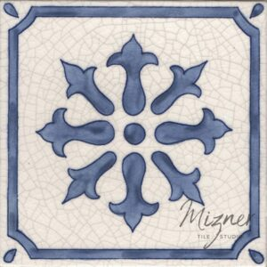 Hand Painted Tile 1-Single Tile - Style HP-547 from Mizner Tile Studio