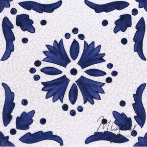 Hand Painted Tile 1-Single Tile - Style HP-549 from Mizner Tile Studio