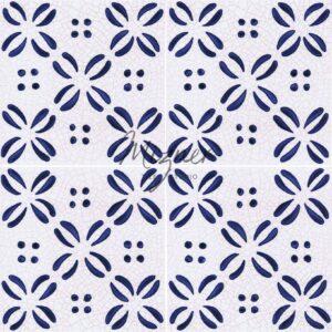 Hand Painted Tile 4-Tile Pattern - Style HP-555 from Mizner Tile Studio
