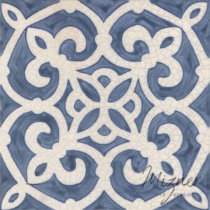Hand Painted Tile 1-Single Tile - Style HP-556 from Mizner Tile Studio