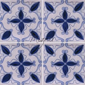Hand Painted Tile 4-Tile Pattern - Style HP-565 from Mizner Tile Studio