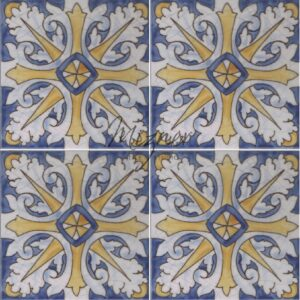 Hand Painted Tile 4-Tile Pattern - Portuguese Style HP-569 from Mizner Tile Studio