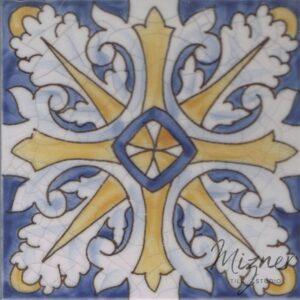 Hand Painted Tile 1-Single Tile - Portuguese Style HP-569 from Mizner Tile Studio