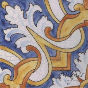 Hand Painted Tile 1-Single Tile - Portuguese Style HP-571 from Mizner Tile Studio